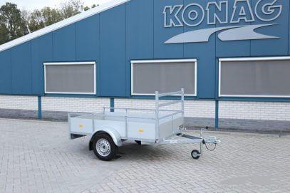 Loady enkelas bakwagen aluminium 225x130